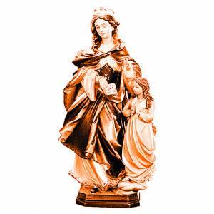 Sainte Anne avec petite fille en bois différentes nuances marron s1