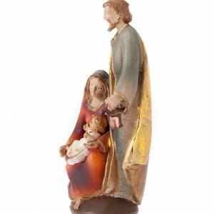 Crèches résine et tissu: Sainte Famille colorée 19 cm