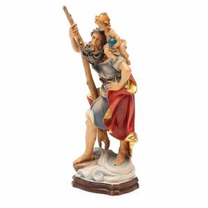 STOCK San Cristoforo 20 cm legno Valgardena finiture oro s2