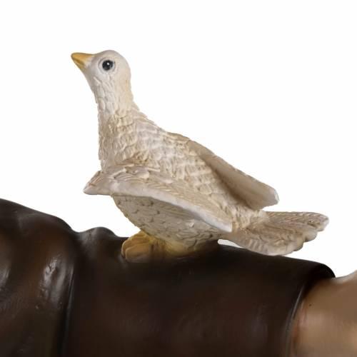 San Francisco con palomas 100 cm en fibra de vidrio s3