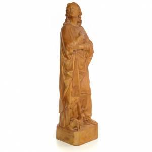 San Giovanni Evangelista 60 cm pasta di legno dec. brunita s4