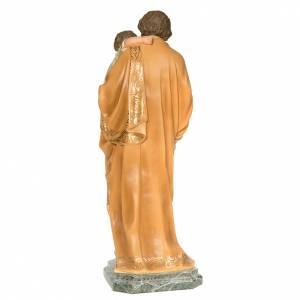 San Giuseppe Bambino in braccio 110 cm pasta legno dec. elegante s5