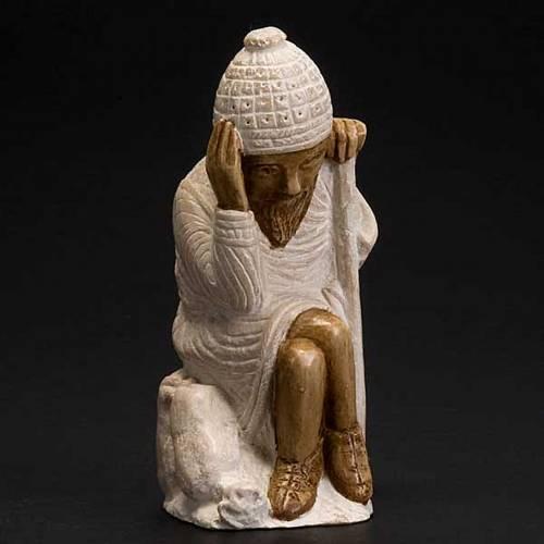 San Giuseppe presepe d'Autunno bianco dipinto s2