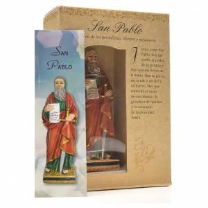 San Pablo 12cm con imagen y oración en Español s3