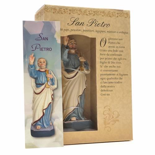 San Pietro 12 cm con immaginetta PREGHIERA ITALIANO s3
