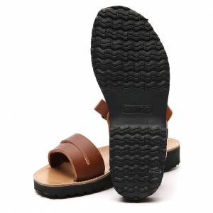 Sandales franciscains mod. Bethléem cuir Moines de Bethléem s6