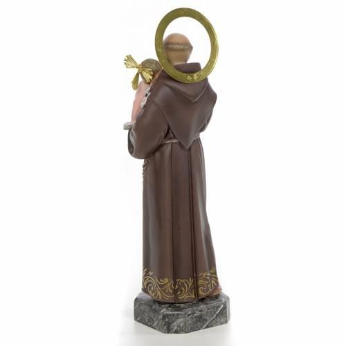 Sant'Antonio da Padova 30 cm pasta di legno decoro elegante s3