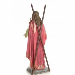 Sant'Eulalia 80 cm pasta di legno dec. elegante s3