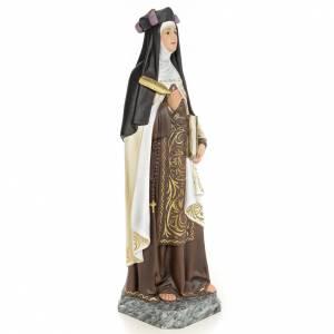 Santa Teresa di Gesù 60 cm pasta di legno dec. elegante s4