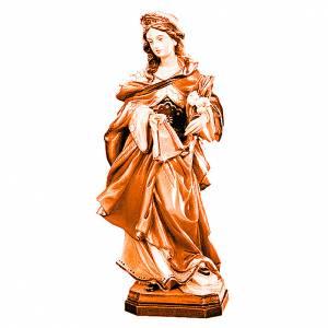 Santa Veronica in legno sfumature varie di marrone s1