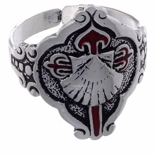 Santiago de Compostela ring in silver, adjustable s2