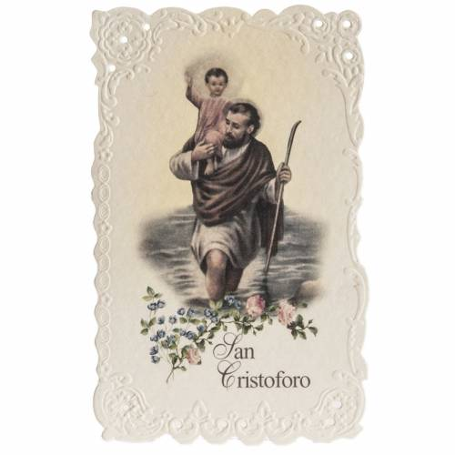 Santino San Cristoforo con preghiera s1