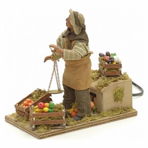 Santon animé, marchand de légumes crèche 14 cm s3