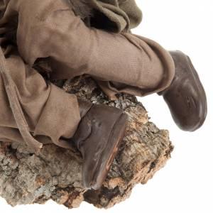 Santon berger endormi 30 cm crèche Napolitaine s5