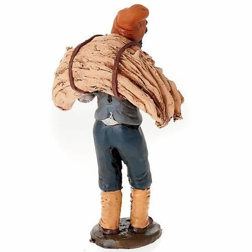 Santon crèche de Noël homme avec foins terre cuite s2