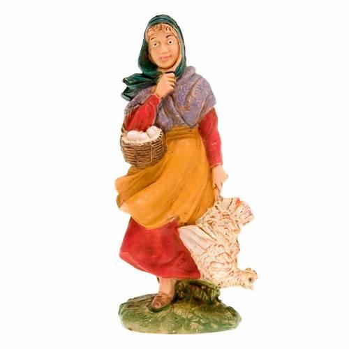 Femme avec poulet 10 cm s1
