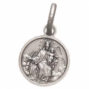 Scapulaire médaille Sacré Coeur argent 925 10 mm s2
