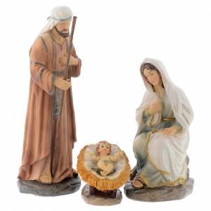 Scène Nativité 3 pcs 20 cm en résine s1