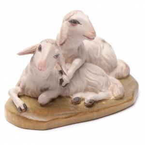 Krippe aus Grödnertal Holz: Schafe 12cm Holz, Krippe Valgardena