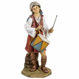 Krippenfiguren: Schafshirte Fontanini mit Trommel 125 cm