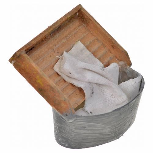 Seau et planche lavandière crèche Naples 4x5x5cm s2