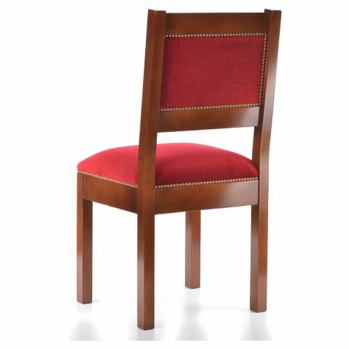 Sedia moderna legno di noce stile Assisi s3