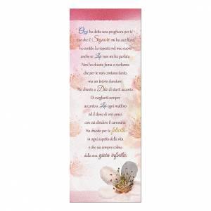Segnalibro: Segnalibro carta perlata Fiore di pesco Preghiera 15x5 cm