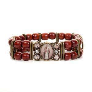 Sepia and strass multi-image bracelet s3