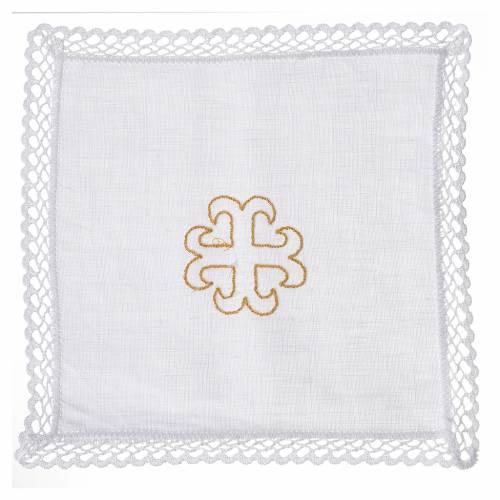 Servicio de altar cruz decorada dorada s1