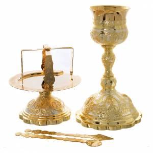 Cálices, Copones y Patenas metal: Set cáliz disco  cubiertos litúrgica Ortodoxa