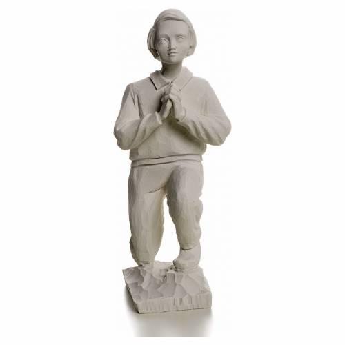 Shepherd Francis, 22 cm reconstituted carrara marble statue s1
