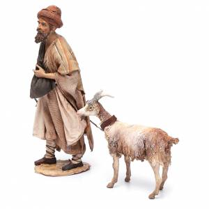 Shepherd with goat, 30cm made of Terracotta by Angela Tripi s2