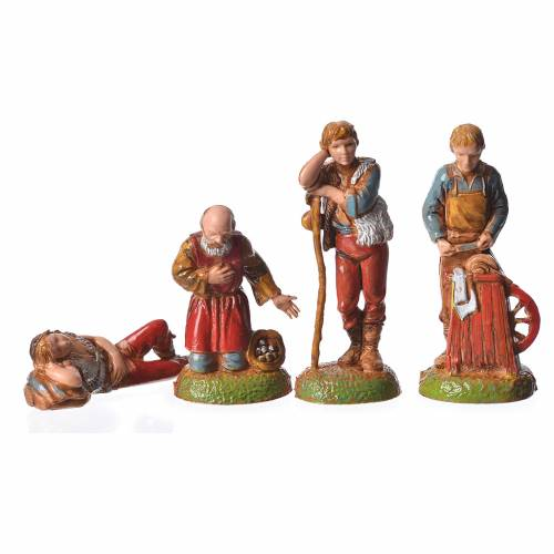 Shepherds, 24 nativity figurines, 6cm Moranduzzo s7