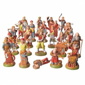 Shepherds, 24 nativity figurines, 6cm Moranduzzo s1