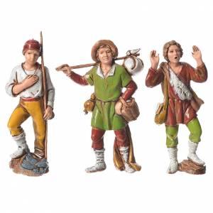 Shepherds figurines 8cm by Moranduzzo, 6pcs s2