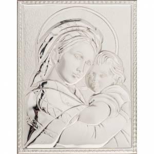 Silver Bassrelief Madonna della Seggiola s1