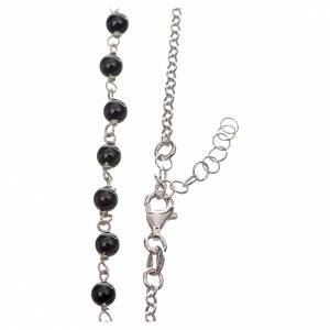Silver necklace with Tau cross and freshwater pearls, MATER jewe s3