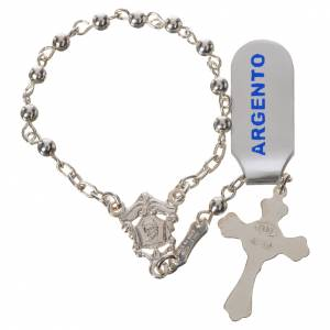 Single decade rosaries: Single-decade rosary beads in polished 800 silver