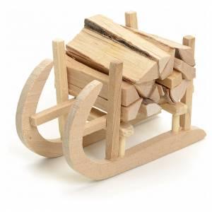 Accessori presepe per casa: Slitta in legno per presepe