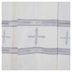 Albas litúrgicas: Sobrepelliz marfil 100% poliéster bordado