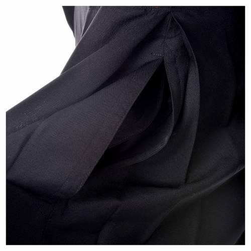 Soutane en laine noire avec boutons couverts s5