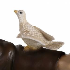 St François avec colombe fibre de verre 100 cm s3