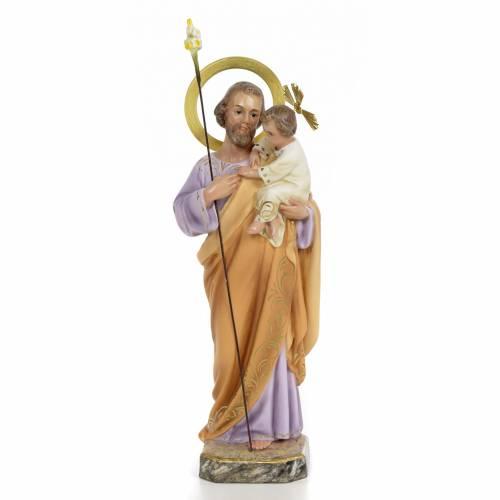 St Joseph à l'enfant 30 cm pâte à bois s1