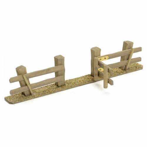 Staccionata presepe con cancello 3x7x2 s3