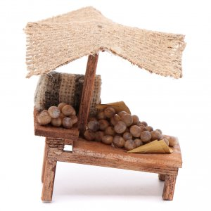 Miniature food: Stall with potatoes for DIY nativities