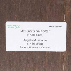 Stampa legno Angelo con Mandolino con cornice s3