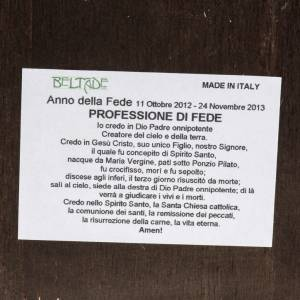 STOCK Stampa legno decorata SS. Trinità Anno della Fede 37x28 s4