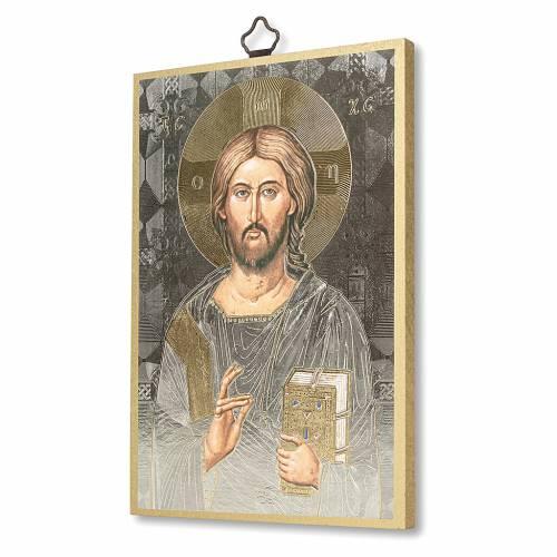 Stampa su legno Icona del Gesù Pantocratore s2