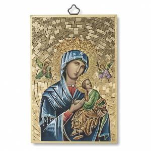 Stampa su legno Madonna del Perpetuo Soccorso Preghiera ITA s1