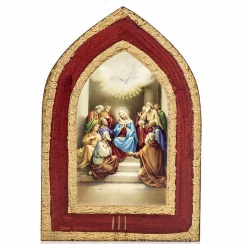 Stampa su legno Misteri Gloriosi 5 quadri s4